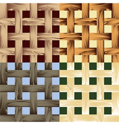 Seamless wooden lath pattern vector image