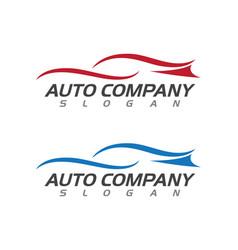 Speed auto car logo template icon vector