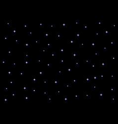 starry night sky on black background vector image