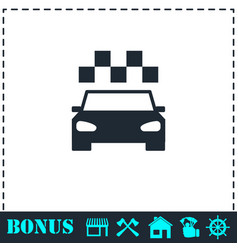 taxi icon flat vector image