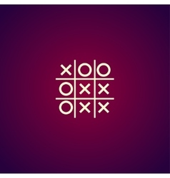 Tic tac toe game - EPS10 vector image