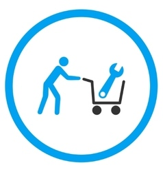 Tools Shopping Rounded Icon vector image