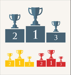 trophy and awards retro vintage collection 4 vector image