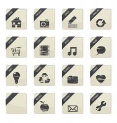 Web button badges vector