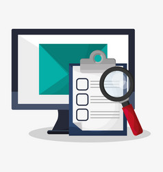 web search related icons image vector image