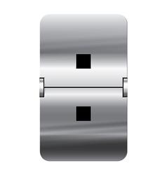 Alphabet silver flipboard letters colon vector image