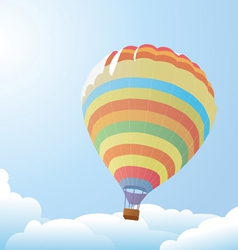 balloon against the blue sky and clouds vector image vector image