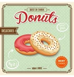 Donut retro poster vector