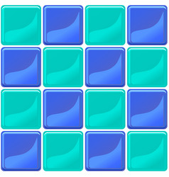 Green and blue tiles texture seamless vector