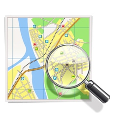 Map with Lens vector image