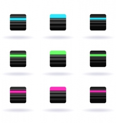 striped icons vector image