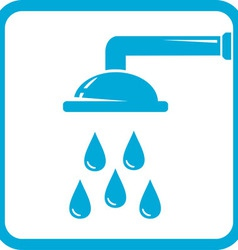 bathroom symbol with shower icon vector image vector image