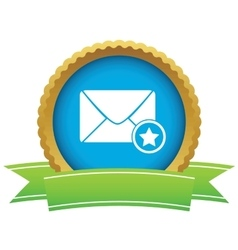 Favorite letter certificate icon vector