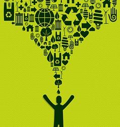 Green Icons splash concept vector image vector image