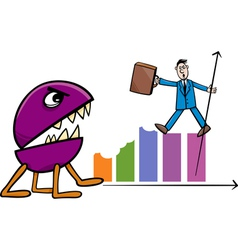 recession in business cartoon vector image vector image