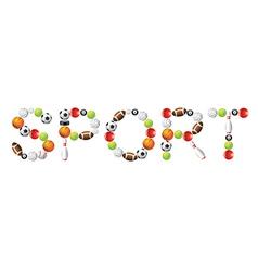 sport word vector image