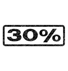 30 percent watermark stamp vector
