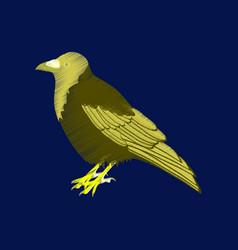 flat shading style icon raven vector image