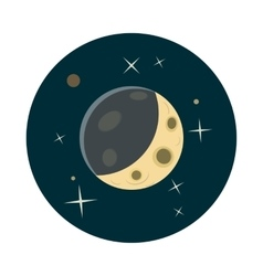 Planet earth in space icon cartoon style vector image vector image