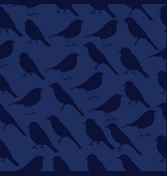 seamless texture with silhouettes of birds vector image vector image