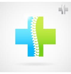 Spinal clinic center logo vector image