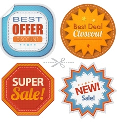 Super sales badges collection vector image vector image