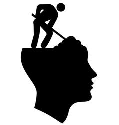 Under Construction Head vector image vector image