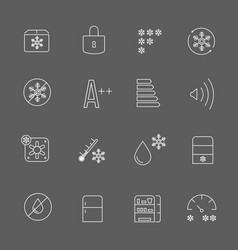 Freezing signs and freezer symbols refrigerator vector