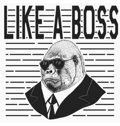 Gorilla dressed in jacket vector image