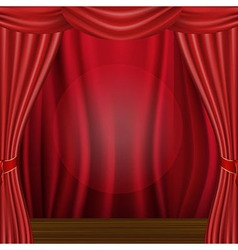 Scene And Curtains vector image