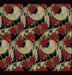 seamless chinese dragon texture vector image