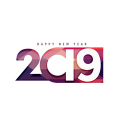 2019 happy new year creative text in papercut vector