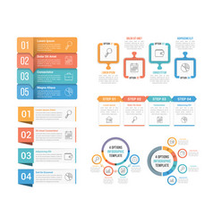 4 steps infographics vector