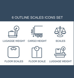 6 scales icons vector