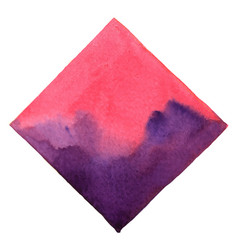 Abstract pink and violet square watercolor banner vector