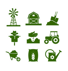 Agriculture industry and gardening icons vector