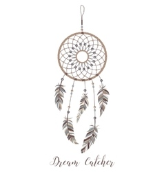 American indians amulet dream catcher vector