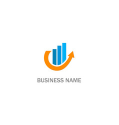 arrow business progress company logo vector image