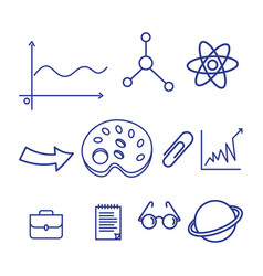 back to school element icon vector image