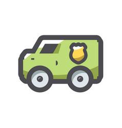 banking collector car icon cartoon vector image