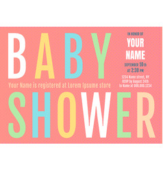 bashower invitation vector image