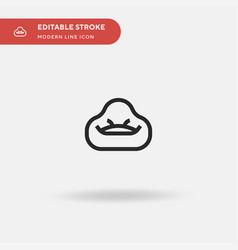 Bean bag simple icon symbol vector