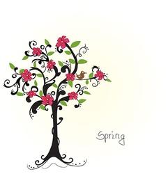 Beautiful bare tree vector image