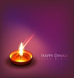 Beautiful diwali diya background vector