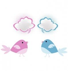 bird chatter vector image