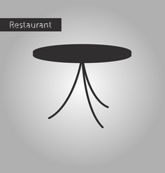 Black and white style icon table vector