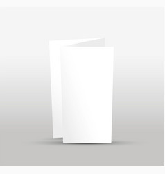 Blank trifold leaflet vector