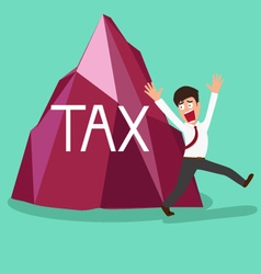 Businessman shocked a big tax vector image