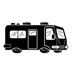 Camp motorhome icon simple style vector