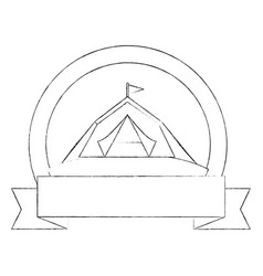 Camping tent isolated vector